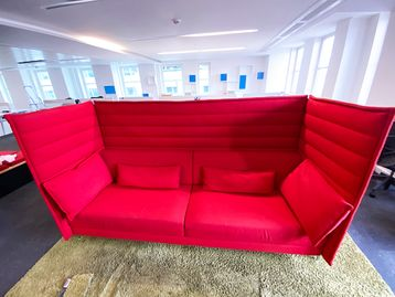 Used Vitra 'Alcove' high-back 3-seat sofas
