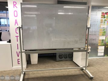 Used White Boards on Stands