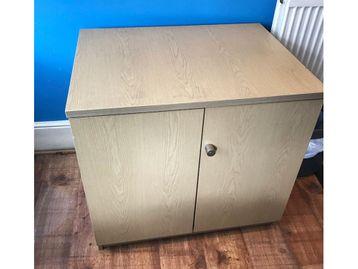 Used Double Door Desk High Cupboard