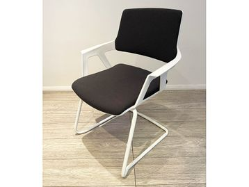 Used Grey & White Stacking Meeting Chairs