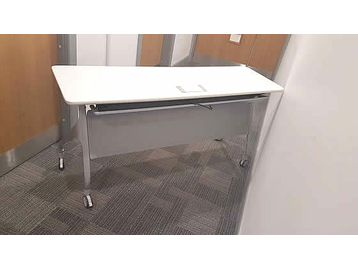 Used 1500mm White Office Flip-top Tables