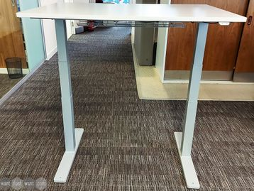 Used 1200mm Light Grey Electric Sit Stand Height Adjustable Desks