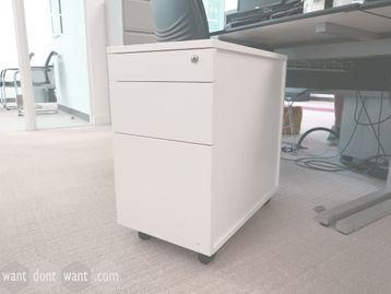Used Slim White MFC Pedestals