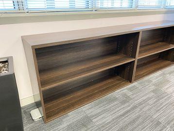 Used dark walnut storage/bookcase units