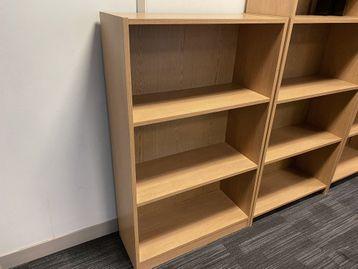 Used oak storage/bookcase with adjustable shelves