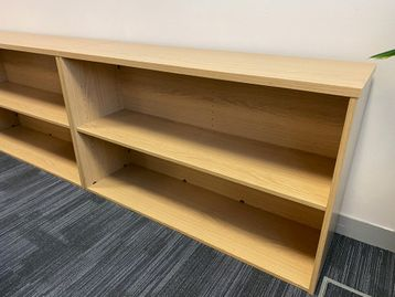 Used light oak bookcase