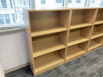 Used medium height light oak bookcase