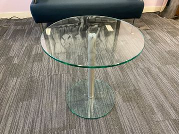 Used circular glass coffee table