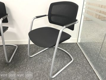 Used mesh back meeting chairs