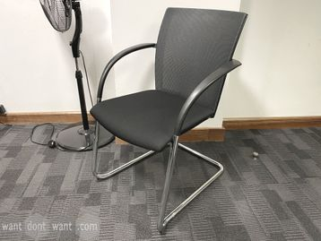 Used Konig and Neurath mesh-back meeting chairs