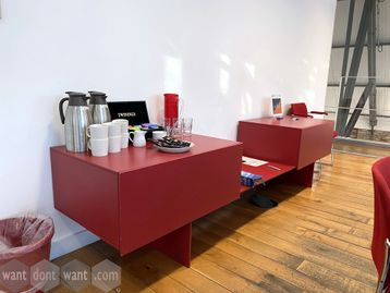 Used Red Storage Credenza