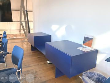 Used Blue Storage Credenza