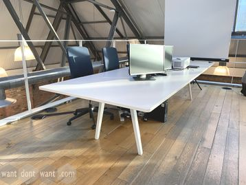 Used 3200mm White Vitra Joyn Boardroom Table