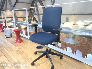 Used Orangebox 'Seren' Operator Chairs in Blue Fabric