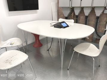 Used 1800mm Fritz Hansen Super Elliptical Table