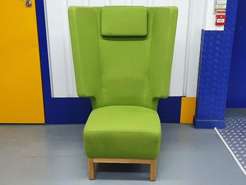 Used Orangebox 'Boom' chairs in 2 colours - 2 x green, 1 x blue