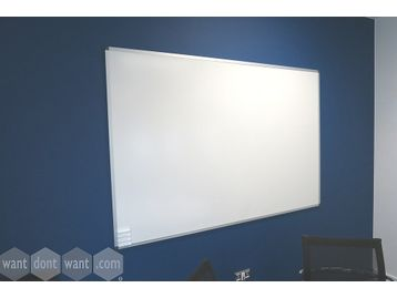 Large wall-mounted dry-wipe boards with aluminium frame - all in good condition.