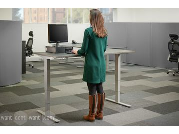 Brand new high quality height-adjustable desks with dual anti-collision motors.