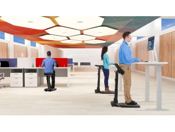 Introducing a new concept <b><i>Standing</b></i> chair that works in harmony with 'Sit/Stand' desks