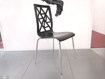 Used Canteen Chair with Chrome Frame