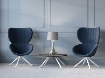 New contemporary high-back chairs