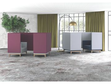 From our 'New Furniture' pages - Collaborative Co-Working Four Seat Booths