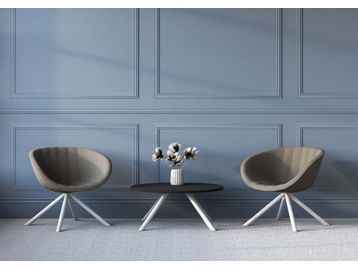 Low-back contemporary break-out chairs