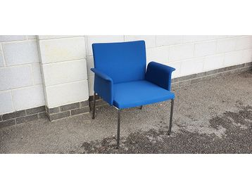 Brunner 'Fina Lounge Chairs' upholstered in blue fabric