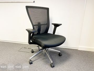 Used Bestuhl 'Radius' chairs with mesh backs and lumbar support