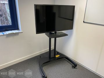 Used 40 'Eternity' LED TV with black metal mobile stand with shelf
