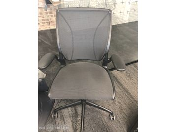 Used Humanscale Diffrient World mesh-back chairs