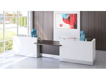 Brand new contemporary reception desks in a whole host of finishes and configurations. Well respected manufacturer - excellent quality.