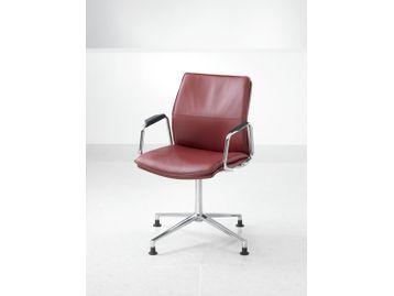 Medium back conference chair with arms