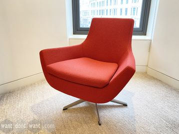 Used Swedese 'Happy Swing' Low Back Armchairs