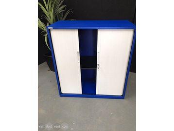 Brand new 'Triumph' side tambour door storage cupboard