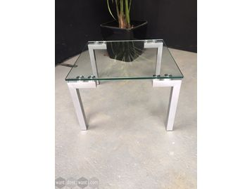 Used contemporary design glass top coffee/reception table