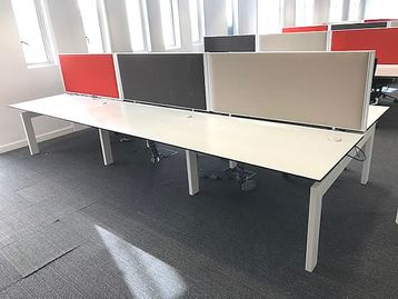 Screens for the Techo Desks 1400mm wide x <b>560mm high</b> in 3 colours