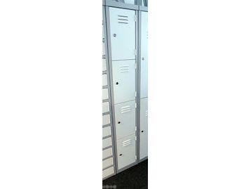 4-door metal locker.