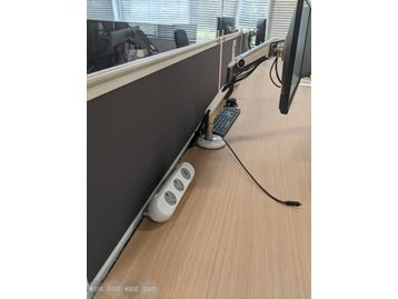 Used Senator desk dividing screens 1600mm wide with single tool rail.