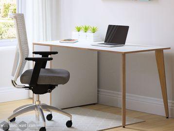 Brand New Desk with Light Oak Veneer Legs