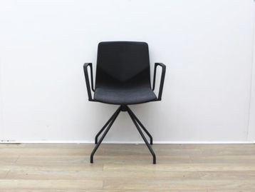 Used Four Grey Meeting Chair With Fabric Seat