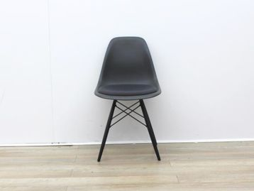 Used Vitra Grey Canteen Chair With Fabric Seat