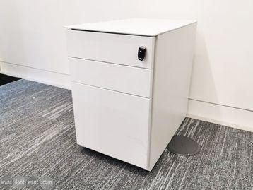 Used 3 Drawer White Pedestal