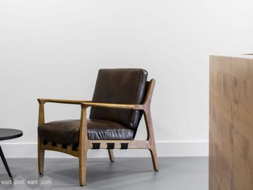 Brand New Leather Armchair - Modern Classic with a Twist