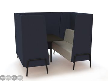 Brand New High Back Meeting Booth - Many Size and Fabric Options Available