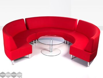 Brand New Modular Curved Low Back Sofa