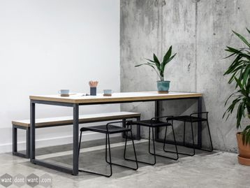 Brand New Cafe Meeting Table with Loop Legs