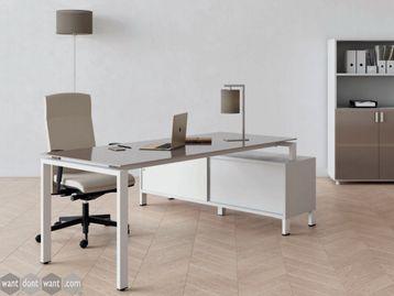 Brand New Executive Desk with Structural Return Sliding Door Storage