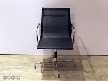 Used Black Meeting Chairs with Chrome Frame