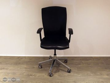 Used Black Leather Operator Chairs